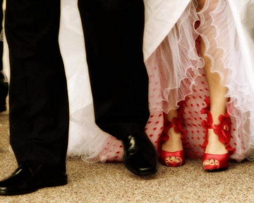 Real Wedding Pictures - Avital's Gorgeous Shoes