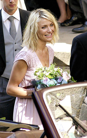 Celebrity Bridesmaid Dresses: Cameron Diaz
