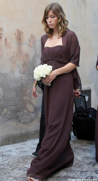 Celebrity Bridesmaid Dresses: Jessica Biel