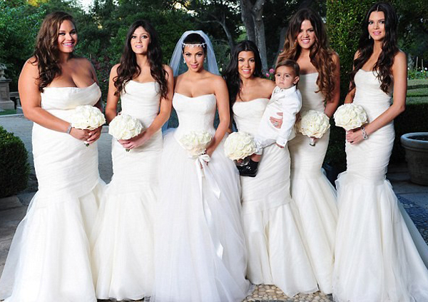 Celebrity Bridesmaid Dresses: The Kardashians
