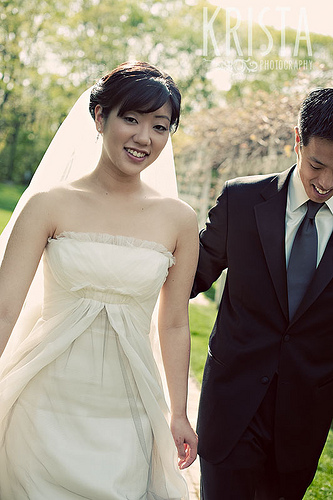 A-Line Wedding Dress Pictures - Grey Chiffon Overlay
