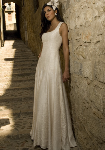 Asymmetric Wedding Dress - Simple