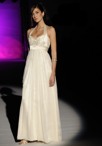 halter wedding dress - beaded