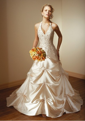 halter wedding dress - pickups