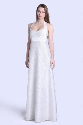 halter wedding dress - satin