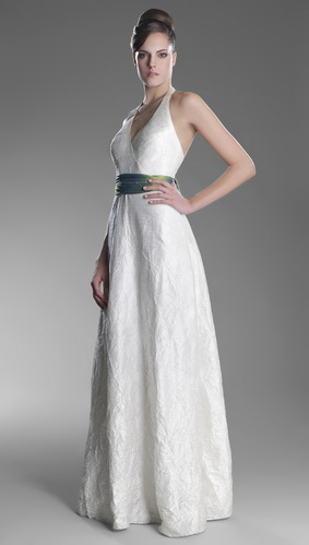 halter wedding dress - silk