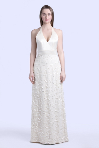 halter wedding dress - skirt