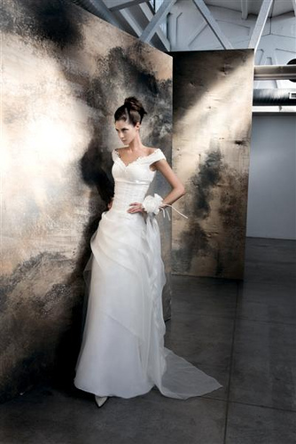 Off-the-shoulder Wedding Dress Picture