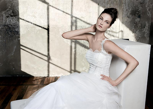 One Strap Fitted Bodice Wedding Gown