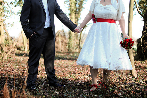 Real Weddings: Holding Hands