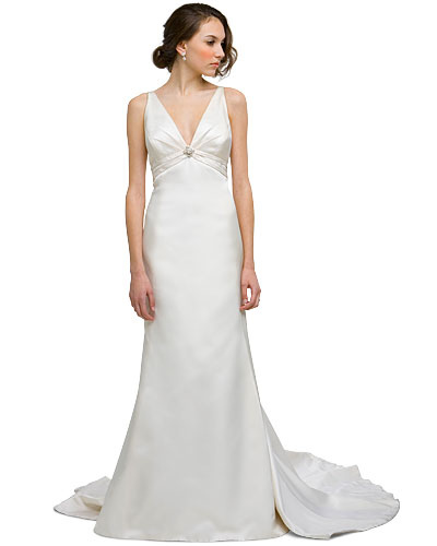 Satin Empire Waist Wedding Dress