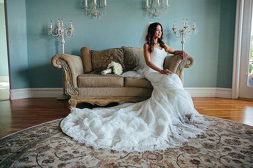 Sheath Wedding Dress with Cathedral Train