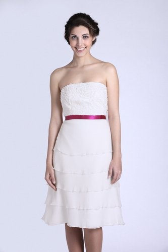 short wedding dress pictures - chiffon