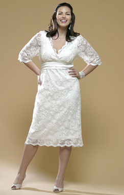 short wedding dress pictures - conservative