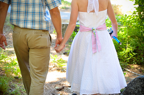 short wedding dress pictures - halter sundress