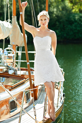 short wedding dress pictures - lace