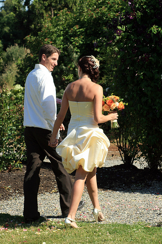 Short Wedding Dress With Pickups