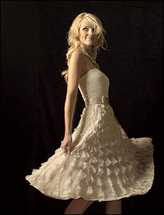 short wedding dress pictures - strapless