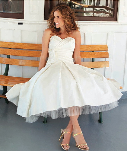 short wedding dress pictures - sweetheart