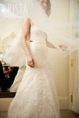 Strapless vintage lace - Pictures of mermaid wedding dresses