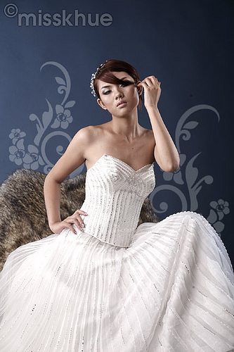Strapless rhinestone-embellished - Princess Wedding Gowns