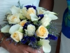 Indigo, Cream, and Baby Blue Wedding Flowers