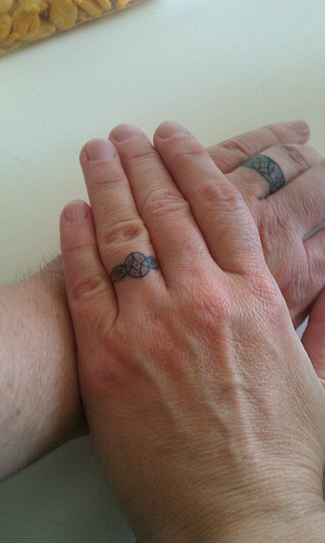 wedding  band tattoo