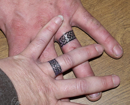 wedding ring tattoo designs - Wedding Ring Finger Tattoos