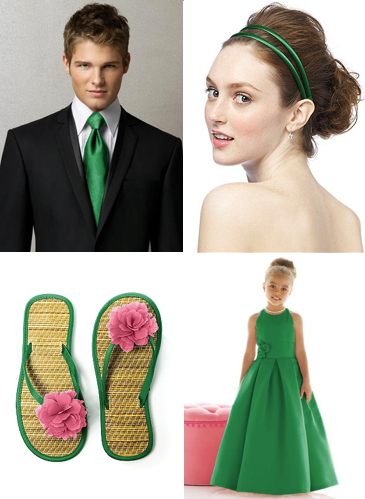 emerald green wedding accessories